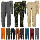Mens Cotton Casual Tactical Utility Multi Pocket Cargo Military Work Pants