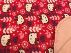 handmade double flannel baby/toddler blankets girls group 2