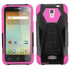 For Alcatel OneTouch Elevate Hybrid Rugged Armor Protective Case Cover w/ Stand