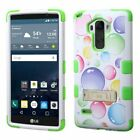For LG G Stylo LS770 Hybrid ShockProof Armor Rugged Rubber Hard Case Cover Stand