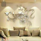 3d Art Acrylic Mural Decal Mirror Flower Removable Wall Sticker Home Room Decor