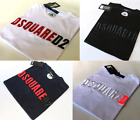 BNWT Dsquared2 Mens Embroidered D2 T-shirt, Size S M L XL XXL, Free Shipping!
