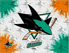 San Jose Sharks HBS Gray Teal Hockey Wall Canvas Art Picture Print $56.00 USD on eBay