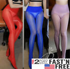 Plus Size Seamless Women Oil Shiny High Glossy Pantyhose Sheer Stocking Tights