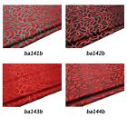 Faux Silk Brocade (Leaf Outline) Jacquard Damask Kimono Fabric Material *BA4