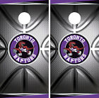 Toronto Raptors Cornhole Wrap NBA Decal Vinyl Metallic Gameboard Skin Set YD294 on eBay