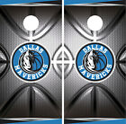 Dallas Mavericks Cornhole Wrap NBA Decal Vinyl Metallic Gameboard Skin Set YD307 on eBay