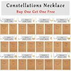 2pcs Fashion Constellations Crystal Card Pendant Necklace Clavicle Chains Choker