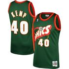 Shawn Kemp #40 Seattle Supersonics Classic 90s Green Throwback Swingman Jersey on eBay