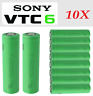 10X Sony VTC6 US18650 3000mAh 30A High Drain Rechargeable Battery + Case