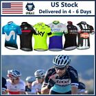 USA 2019 New Summer Mens Short Sleeve Cycling Jersey Bicycle Full- Zipper Shirts