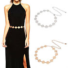 Fashion Metal Waist Chain Belt Gold Silver Buckle Body Chain Dress Belts lx