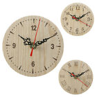 Small Decoration Vintage Style Bedroom Numerals Quartz Wooden Round Wall Clock