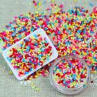 DIY Polymer Clay Colorful Fake Candy Sweet Sugar Sprinkles All Beauty Decor 100g image