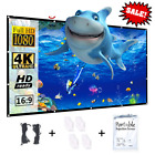 HD Projector Screen 84 100 120 133 inch Projection Beamer For Home Theater Movie