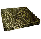 hj03t Light Gold Gray Brown Ace Peacock Feather 3D Box Sofa Seat Cushion Cover
