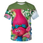 Women Men Casual T-Shirt 3D Print Cartoon Trolls Short Sleeve Tee Top Streetwear image