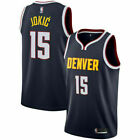 Hot Denver Nuggets #15 Nikola Jokic Navy Blue Basketball Jersey Size: S - XXL on eBay