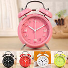 Cute Alarm Clock Analog Double Bell Home Noiseless Kids Night Light Big Dial 3D
