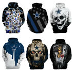 Dallas Cowboys 3D Hoodie Football Hooded Sweatshirt Sports Jacket Gifts for Fans $29.44 USD on eBay