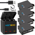 New AHDBT-501 Battery or 3-Slots Storage Charger for Gopro Hero 5 6 7 Black 2018