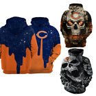 Chicago Bears Hoodie Football Hooded Sweatshirt Team Color Jacket Gifts for Fans $29.44 USD on eBay