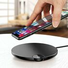 Baseus LED Samsung Qi Wireless Charger Charging Pad Mat Dock For iPhone 11 X 8