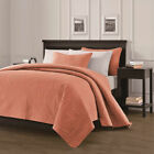 Pinsonic Quilted Austin Oversize Bedspread Coverlet 3-piece Set, Salmon image