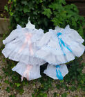 DREAM 0-3 YEARS TRADITIONAL FRILLY NETTED BABY DRESS AND KNICKERS OR REBORN DOLL