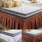 Elastic Bed Skirt Dust Ruffle Easy Fit Wrap Around Twin Full Queen King Size image