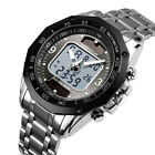 Solar Men's Power Sports Analog Digital Dual Luminous Waterproof Wrist Watch US image