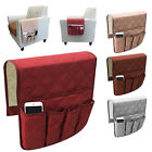 5 Pocket Sofa Arm Rest Organizer Caddy Couch Tray Remote Control Holder Table US