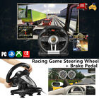 Pxn-v3ii Racing Game Steering Wheel + Brake Pedal For Pc Switch Ps3 Ps4 Xbox One