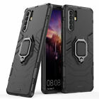 For Huawei P30 P20 Pro Lite Rugged Armor Case Magnetic Ring Holder Hard Cover