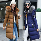 Women's Winter Slim fur Coat Hooded Cotton Jacket Parka Warm Long Padded Jacket