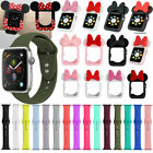 Apple iWatch Case Bumper Cover Silicone Wrist Band Rubber Strap Series 4 3 2 1 image