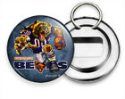 ANGRY RUNNING CHICAGO BEARS FOOTBALL TEAM BEER BOTTLE OPENER KEYCHAIN KEY FOB $12.49 USD on eBay