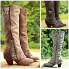 Women Riding Boots Fold Over Design Near The Ankle Lace Detailing Ladies Shoes
