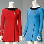 UK Women's Star Trek Uniform Cosplay Costume Red&Blue Adult Dress Suit Free Ship on eBay