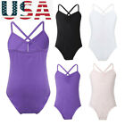 Girls Ballet Basic Dance Leotards Kids Gymnastics Train Uniform Bodysuit Costume
