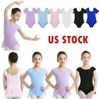 Kyпить US Girls Ballet Dance Leotards Kid Gymnastics Skirted Bodysuit Sleeved Dancewear на еВаy.соm