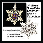 FREE DESIGN > BALTIMORE RAVENS - Snowflake Ornament, Natural or White $3.99 USD on eBay