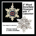 FREE DESIGN > CHICAGO BEARS - Snowflake Ornament, Natural or White $5.99 USD on eBay
