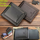 Men's Bifold Leather Wallet Gift Box ID Credit Sim Card Holder Billfold Clutch