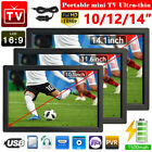 10/12/14inch Freeview Portable 1080P HD TV Digital Television Player DVB-T-T2 UK