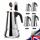 Stainless Steel Espresso Stove Top Coffee Maker Moka Percolator Pot 2/4/6/9 Cups