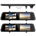 """Wide Angle 12"""" Touch Screen DVR Lens Dash Cam Front Rear Recorder New Use Hot"""