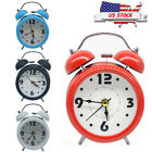 Alarm Clock Vintage Retro Classic Twin Bell Bedroom Bedside Battery Operated