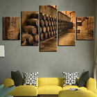 Wine Cellar Wine Barrels 5 Pieces Canvas Wall Art Poster Print Home Decor photo