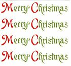 Merry Christmas Select-A-Size Waterslide Ceramic Decals Xx image